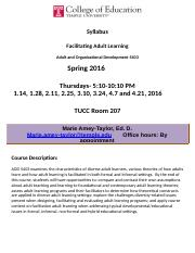 Full Syllabus Spring 2016 Facilitating Adult Learning Final Student Count Version.doc