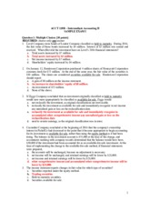 ACCT 120B Sample Exam I _Solutions_ _Fall 2015_