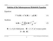Solution of inhomogeneous Helmholtz Equation