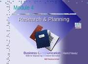 Module 4 Planning & Research