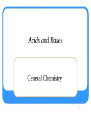 5. Acids and Bases