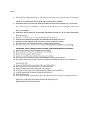 Exam 1 Test Questions History of Science and Knowledge (3).docx