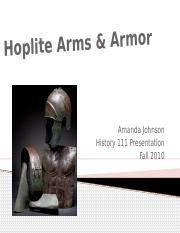 Arms and Armor of a Greek hoplite.pptx