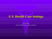 HCR 210 Week 2-Assignment - U.S. Health Care Settings