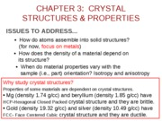 2010-01-25 Chapter 03 Structures Of Crystalline Solids