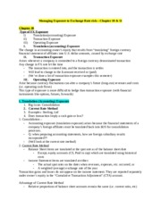 Class Notes Chapter 10 & 11