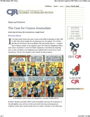 Case for Comic Journalism