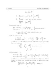 Physics 2.71 Pset 5 Solutions