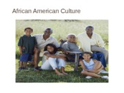 African American Culture presentation for multicultural