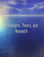 Paradigms and Theory.ppt