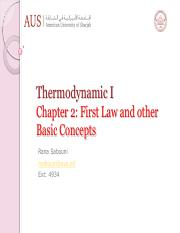 Chapter 2- Frist law of thermodynamics-S