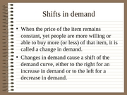 Shifts in D&S