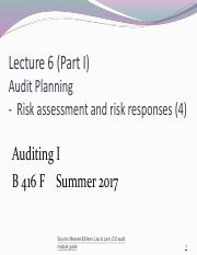 Lecture 6 Part I Auditing Planning (4) 2017 OLE.pdf