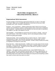 Work Ethics 7, Organizational Skills.docx