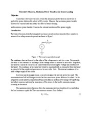 Thevenins Theorem and Max Power Transfer