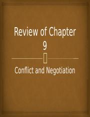 Review of Chapter 11 Conflict and Negotiation.pptx