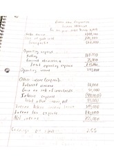 acct 202 income statement notes