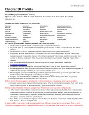 Chapter 30  Protist Study Guide(1).docx