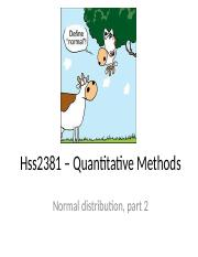 Hss2381 - normal distribution part 2.ppt