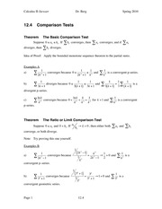 Calculus II Notes 12.4