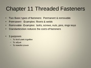 11 Threaded Fasteners