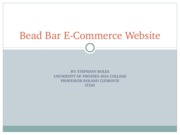 Bead Bar E-Commerce Website