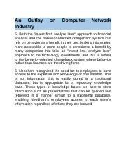 An Outlay on Computer Network Industry.docx