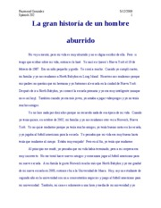 spanish essay on school life