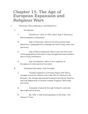 The Age of European Expansion and Religious Wars.docx