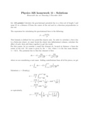 Physics 325 HW 11 Solutions