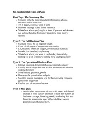 Six Fundamental Types of Plans Notes