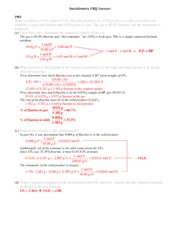 FRQs - Stoichiometry (Answers) (1)