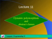 Lecture11-Polymorphism_II