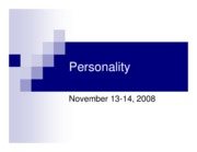 Personality Disc