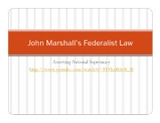 John Marshall's Federalist Law(2)