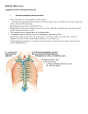 bios255 week 5 lab exercise View lab report - bios255_w5_lab_exercise from bio 255 at chamberlain college of nursing bios 255 week 5 lab 5 lymphatic system & disease resistance 1 describe lymphatic system functions.