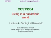 Lecture 4 Geological Hazards II_Tsunamis_20120218
