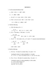 REVIEW II solutions