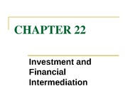 chapter 22 investment and financial intermediaries