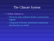 3. Climate System