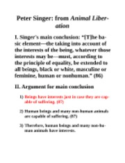 Peter Singer-Animal Rights