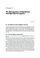 Essentials of Logistics and Management by Jaffeux 3e Chap 8