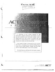 ACT Practice Test 63E April 2006