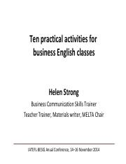 Helen Strong_Ten practical activities for business English classes.pdf