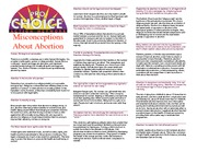Misconceptions about Abortion