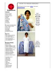 HOW TO WEAR KIMONO - Go Japan Go