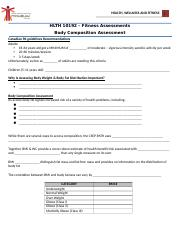 Lecture - Body Composition Guided Notes