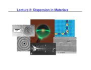 Lecture 2 - Dispersion in Materials