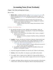 Chapter 5 Intermediate Accounting Notes from Textbook