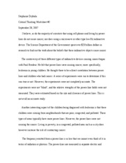 Critical Thinking Worksheet #2